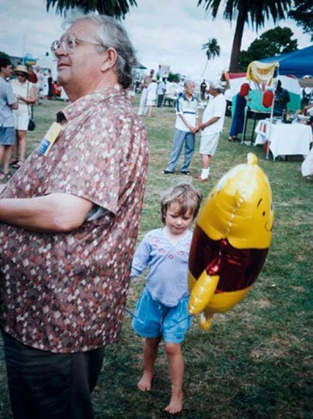 David Lange with Daughter
